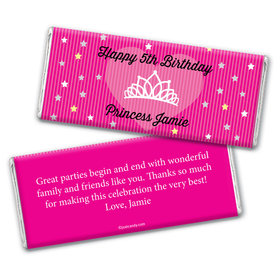 Birthday Personalized Chocolate Bar Wrappers Princess Crown