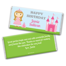 Birthday Personalized Chocolate Bar Wrappers Renaissance Kingdom Princess