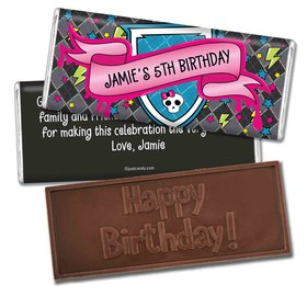 Birthday Personalized Embossed Chocolate Bar Monster High Inspired Skull