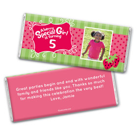 Birthday Personalized Chocolate Bar Wrappers Strawberry Shortcake Berry Inspired
