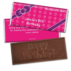 Birthday Personalized Embossed Chocolate Bar Hello Kitty