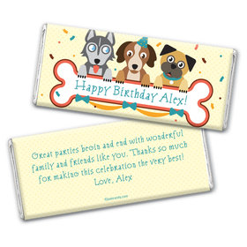 Birthday Personalized Chocolate Bar Wrappers Secret Pets Puppy Love