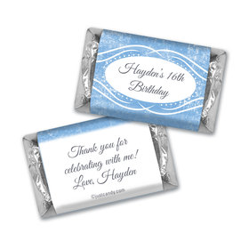 Birthday Personalized Hershey's Miniatures Winter Snow Squiggle