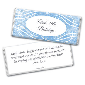 Birthday Personalized Chocolate Bar Wrappers Winter Snow Squiggle