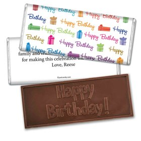 Birthday Personalized Embossed Chocolate Bar Gifts and Wishes