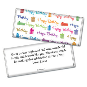 Birthday Personalized Chocolate Bar Gifts and Wishes