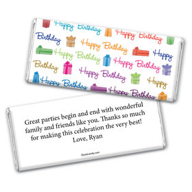 Birthday Personalized Chocolate Bar Wrappers Gifts and Wishes