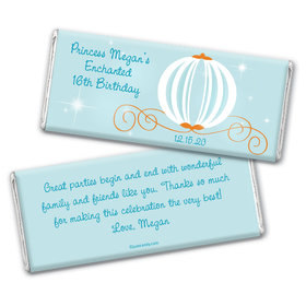 Birthday Personalized Chocolate Bar Wrappers Cinderella Theme Princess Pumpkin Carriage
