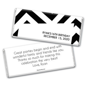 Birthday Personalized Chocolate Bar Wrappers Chevron