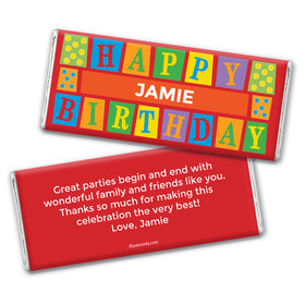 Birthday Personalized Chocolate Bar Wrappers Sesame Street