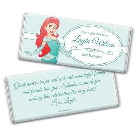 Birthday Personalized Chocolate Bar Wrappers Mermaid Princess