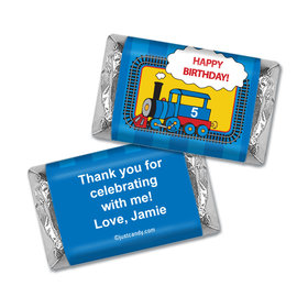 Birthday Personalized Hershey's Miniatures Wrappers Train for Thomas