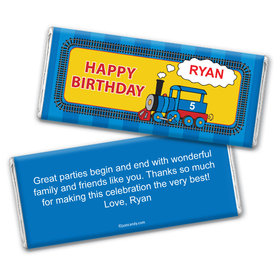 Birthday Personalized Chocolate Bar Wrappers Train for Thomas