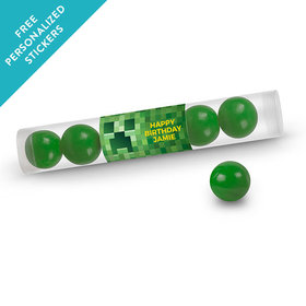 Birthday Personalized Gumball Tube Creeper Style Craft (12 Pack)