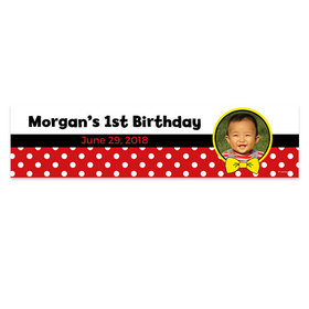 Personalized Birthday Mickey Mouse Theme Photo 5 Ft. Banner