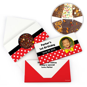 Personalized Birthday Mickey Themed Photo Gourmet Infused Belgian Chocolate Bars (3.5oz)