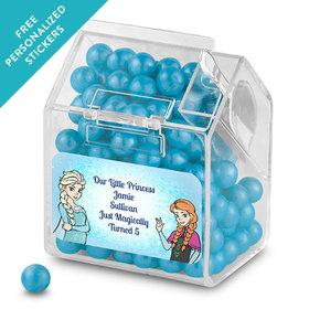 Birthday Personalized Candy Bin Dispenser Disney Style Frozen Theme (12 Pack)