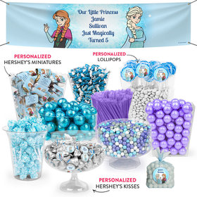 Personalized Kids Birthday Frozen Themed Deluxe Candy Buffet