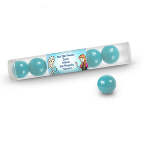 Birthday Personalized Gumball Tube Disney Style Frozen Theme (12 Pack)