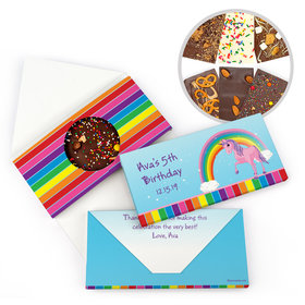 Personalized Birthday My Little Rainbow Unicorn Gourmet Infused Belgian Chocolate Bars (3.5oz)