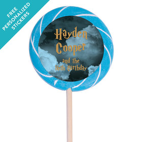 """Birthday Personalized 3"""" Swirly Pop Harry Potter Wizzardly Wishes (12 Pack)"""