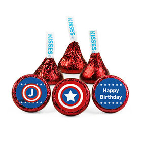 Personalized Kids Birthday Captain America Themed Hershey's Kisses (50 pack)
