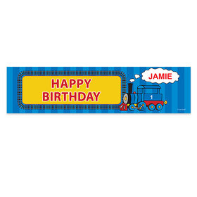 Personalized Birthday Train 5 Ft. Banner