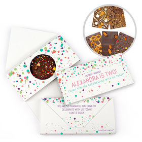 Personalized Birthday Colorful Splatter Gourmet Infused Belgian Chocolate Bars (3.5oz)