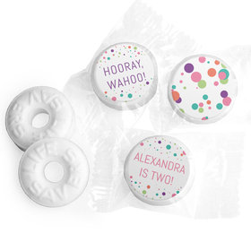 Personalized Birthday Colorful Splatter Life Savers Mints