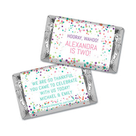 Personalized Birthday Colorful Splatter Hershey's Miniatures Wrappers