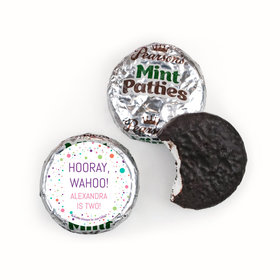 Personalized Birthday Colorful Splatter Pearson's Mint Patties