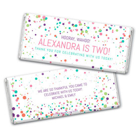 Personalized Birthday Colorful Splatter Chocolate Bar & Wrapper