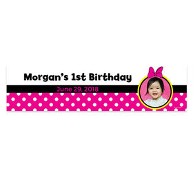 Personalized Birthday Minnie Mouse Theme Photo 5 Ft. Banner