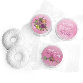 Personalized Birthday She's a Wild One Life Savers Mints