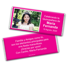 Quinceañera Personalized Chocolate Bar Wrappers Instantnea