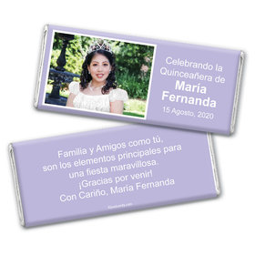 Quinceaera Personalized Chocolate Bar Wrappers Instantnea