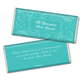 Quinceaera Personalized Chocolate Bar Clsico de Esplazamiento