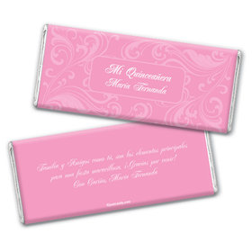Quinceaera Personalized Chocolate Bar Wrappers Clsico de Esplazamiento