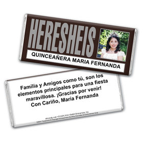 "Birthday Personalized Chocolate Bar HERESHEIS ""Here She Is"" Quinceañera"