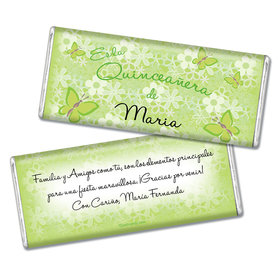 Quinceaera Personalized Chocolate Bar Jardn de Mariposas