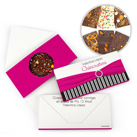 Personalized Quinceanera Rayas y el Arco Gourmet Infused Belgian Chocolate Bars (3.5oz)