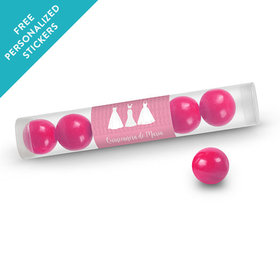Personalized Gumball Tube Quinceañera (12 Pack)