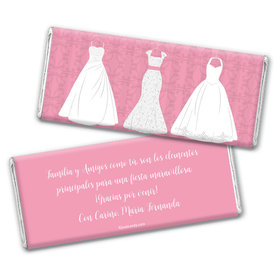 Personalized Quinceaera 3 White Dresses Chocolate Bar Wrappers Only