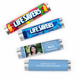 Personalized Quinceanera Photo Lifesavers Rolls (20 Rolls)