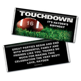 Birthday Personalized Chocolate Bar Football Touchdown