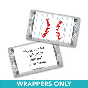 Birthday Personalized Hershey's Miniatures Wrappers Baseball Party