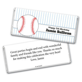 Birthday Personalized Chocolate Bar Wrappers Baseball Party