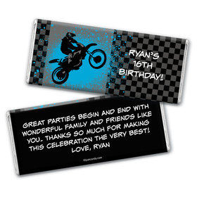 Birthday Personalized Chocolate Bar Wrappers Motorcycle Motorcross Party