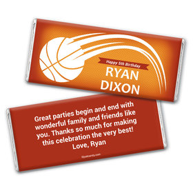 Birthday Personalized Chocolate Bar Wrappers Basketball Swish