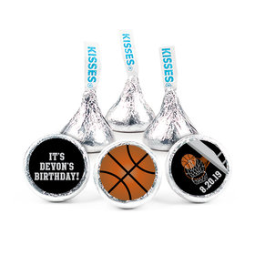 "Birthday 3/4"" Sticker Basketball Hoop Slam Dunk (108 Stickers)"